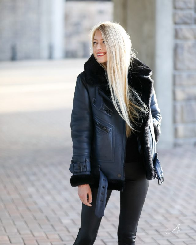 Moya The arrivals Shearling coat review
