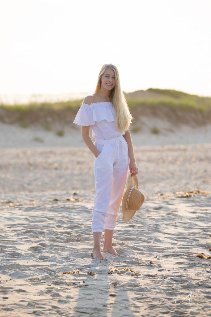 white linen jumpsuit for summer