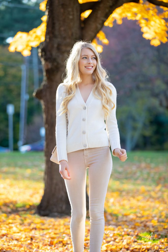 crystal button cardigan beige jeans