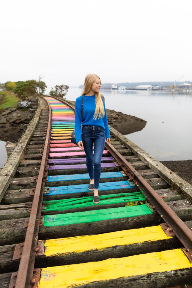 colorful outfit rainbow railroad